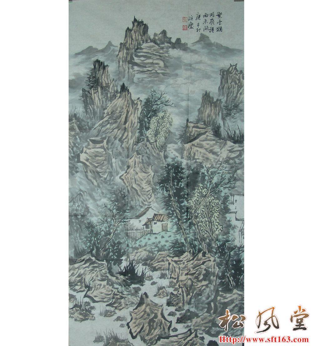 谈延庆国画 繁云犹暗岭