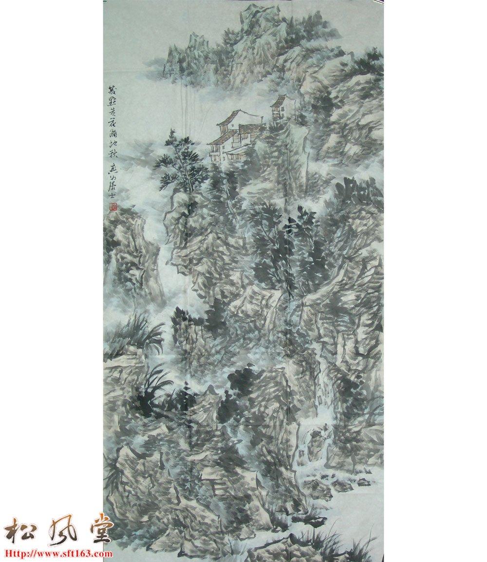 谈延庆国画 山水图