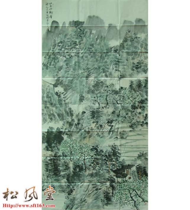 汪刚国画作品 四月山乡
