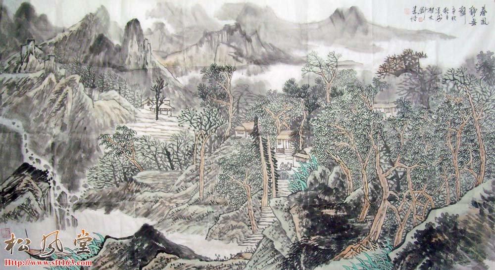 刘善传国画作品 春风静无声