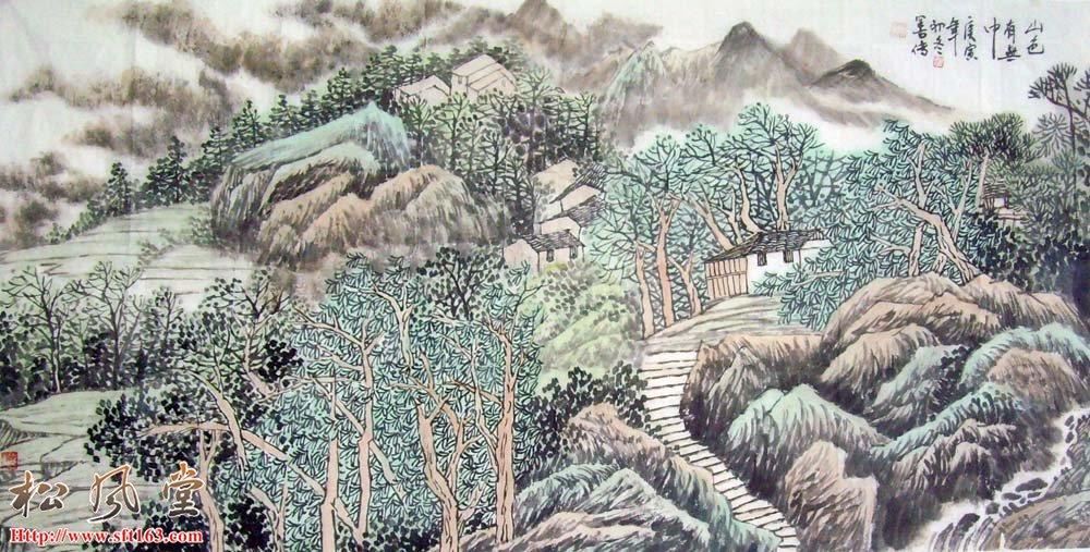 刘善传山水国画作品