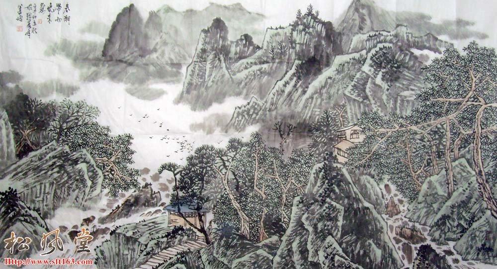 刘善传山水画