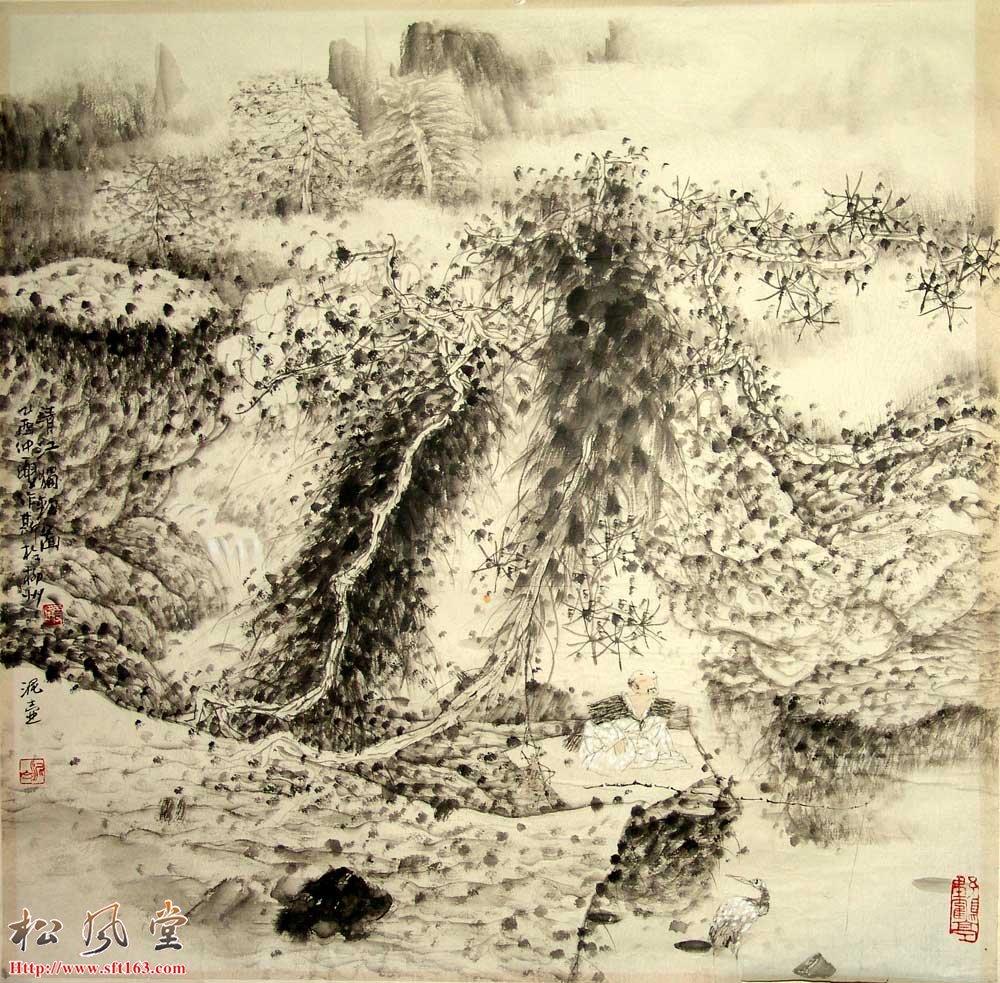 韦雪峰国画作品