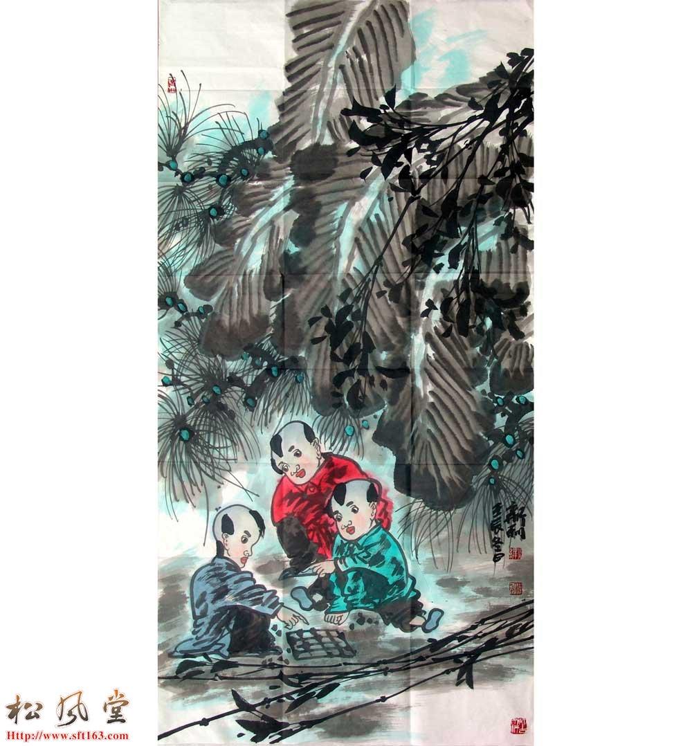 胡新利国画人物33