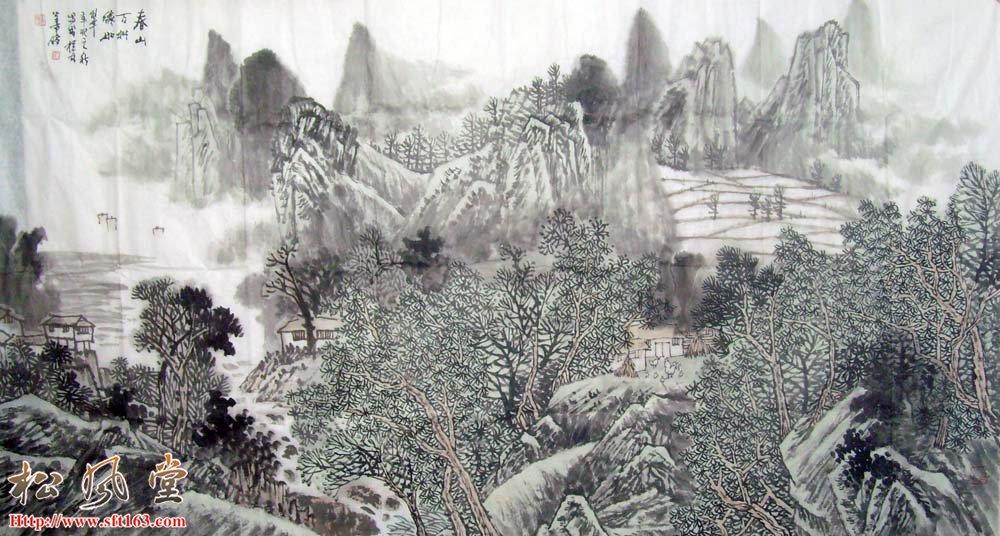 刘善传六尺国画作品10