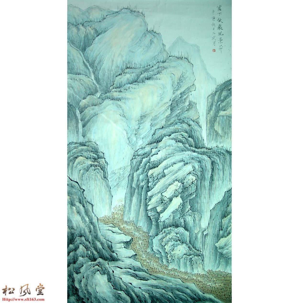 蓝凡武展览国画作品2
