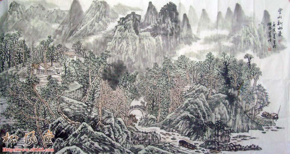 刘善传六尺山水画作品