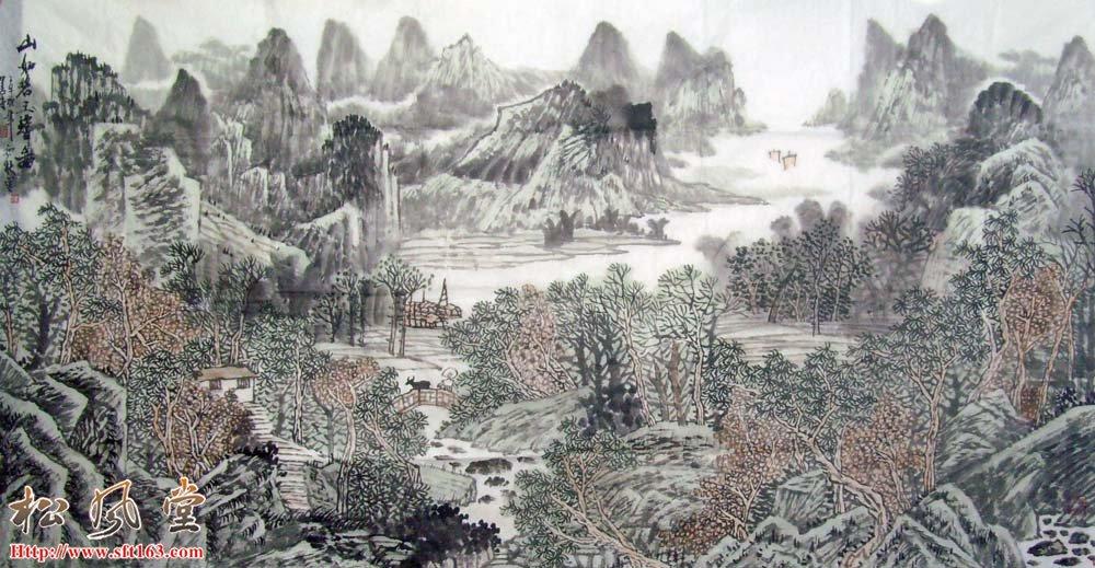 刘善传山水国画作品12