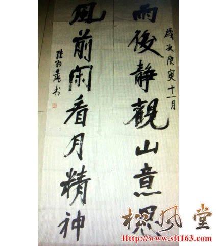 张羽翔书法对联作品