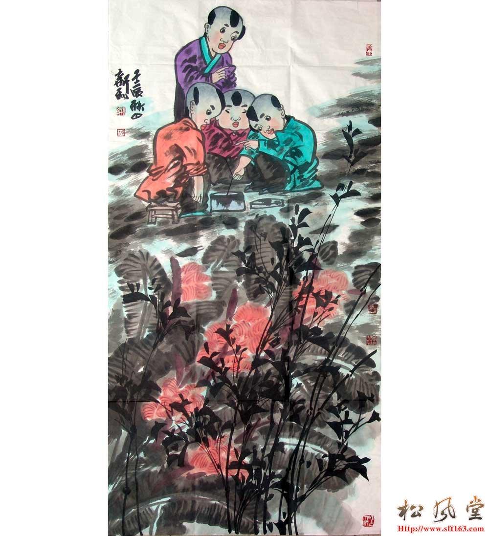 胡新利国画人物12