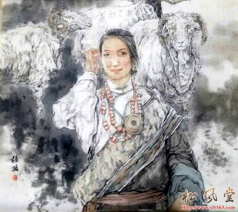 张波国画人物
