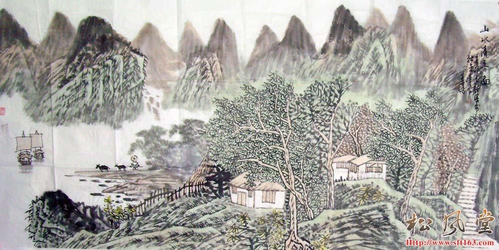 刘善传国画山水12